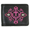 Pink Embroidery Short Wallet シルバー ブレスレット WW-7685