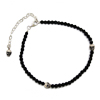 Black Spinnel Skull Bracelet I シルバーペアリング WWB-28357 BK