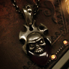 Lily Skull Shield Necklace シルバー バングル WWP-18737 with chain