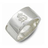 W Logo mark Plate Ring White レザーブレスレット WWR-2005 WH |09