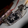 Gothic Scroll Stingray Bangle シルバー ブレスレット WWSB-008