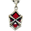 Armored-X Red Stone Pendant シルバー ペンダント WWP-25233