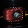 Azarashi Kawa Red Bangle Men レザーブレスレット WWB-3331 RD Men