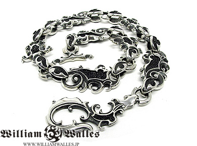 Dragon Skin chains, silver chains, silver, William Wallaceウォレット チェーン WWW-3326