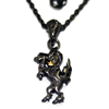 Upright Black Unicorn Pendant ラペルピン WWP-23663 BK